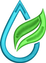 Water Drop Leaf embroidery design