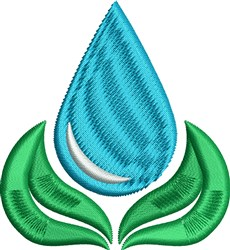 Water Leaf embroidery design