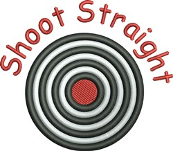 Shoot Straight embroidery design