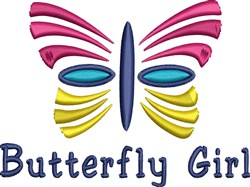 Butterfly Girl embroidery design