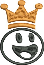 Crowned Face embroidery design