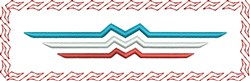 Wavy Rectangle embroidery design