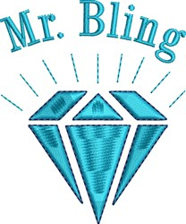 Mr Bling embroidery design