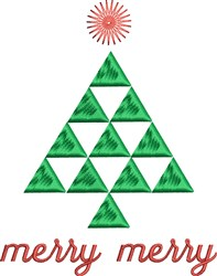 Merry Tree embroidery design