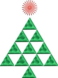 Triangle Tree embroidery design