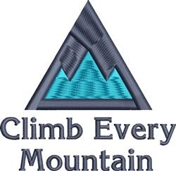 Climb Mountain embroidery design