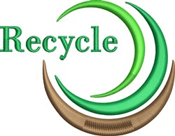 Recycle Logo embroidery design