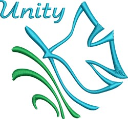 Unity Dove embroidery design