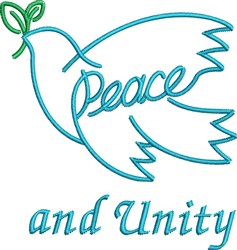 Peace And Unity embroidery design