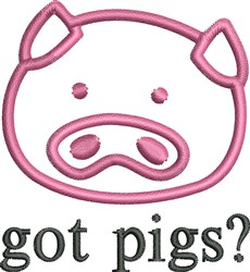 Got Pigs embroidery design