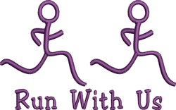 Run With Us embroidery design
