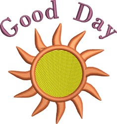 Good Day embroidery design