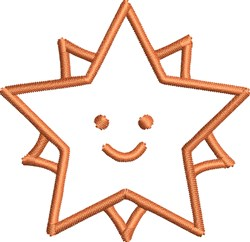 Star Outline embroidery design