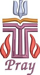 Pray Logo embroidery design