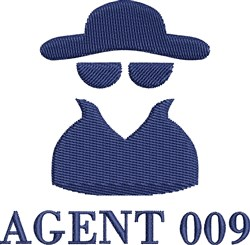 Agent 009 embroidery design