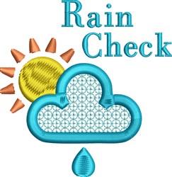 Rain Check embroidery design