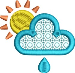 Sun and Rain embroidery design