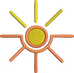 Sun Symbol embroidery design