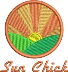 Sun Chick embroidery design