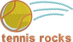 Tennis Rocks embroidery design