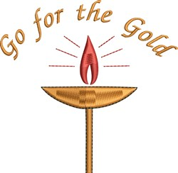 Go For Gold embroidery design