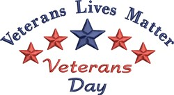 Veterans Matter embroidery design