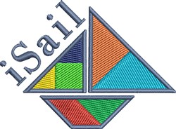 Abstract Sail Boat embroidery design