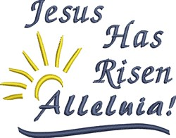 Easter Alleluia! embroidery design