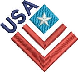 Patriotic USA Flag embroidery design
