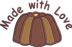 Bundt Cake embroidery design