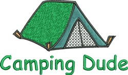 Camping Dude embroidery design