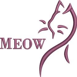Cat Profile Outline embroidery design