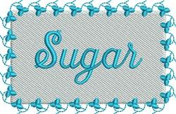 Blue Sugar Label embroidery design