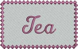 Purple Tea Label embroidery design