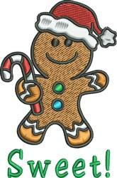 Gingerbread Man Santa embroidery design