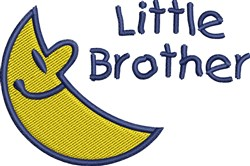Crescent Moon Little Brother embroidery design