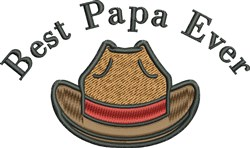 Papas Cowboy Hat embroidery design