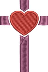 Heart Cross embroidery design
