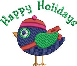 Holiday Bird embroidery design
