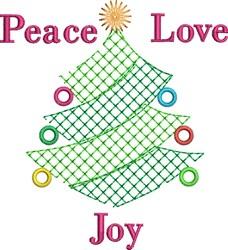 Joy Tree embroidery design