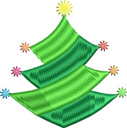 Holiday Tree embroidery design