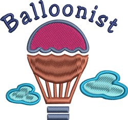 Balloonist embroidery design