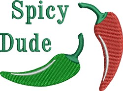 Spicy Dude embroidery design