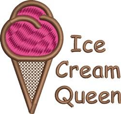 Ice Cream Queen embroidery design