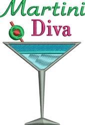 Martini Diva embroidery design