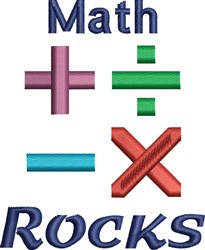 Math Rocks embroidery design