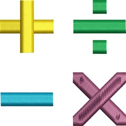 Math Symbols embroidery design