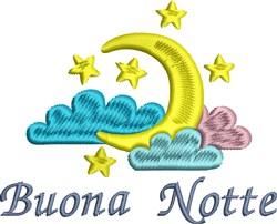 Buona Notte embroidery design