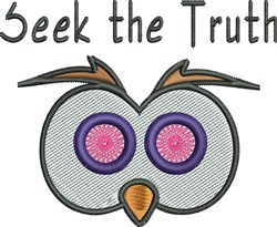 Seek The Truth embroidery design