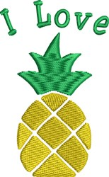 Love Pineapple embroidery design